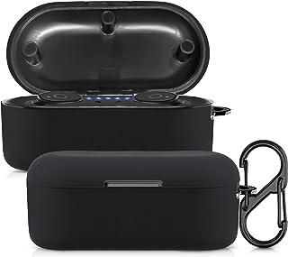 kwmobile case compatibel met TOZO T10 Wireless Earbuds - Hoesje voor oordopjes in zwart