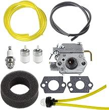 Hipa WT-827 Carburetor with Air Filter Fuel Filter Tune-Up Kit for MTD Bolens BL100 BL150 BL250 BL410 Yard Man Machines YM70SS 120R 121R 2800m Y28 Y725 YM1000 YM1500 YM320BV YM400 Weedeater