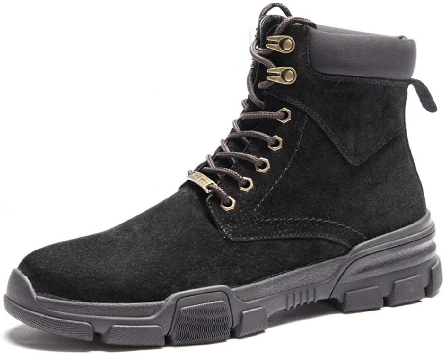 Men's and Bare Boots High shoes Desert Short Boots Leather Trend Tooling Military Boots Wild England Martin Boots Men