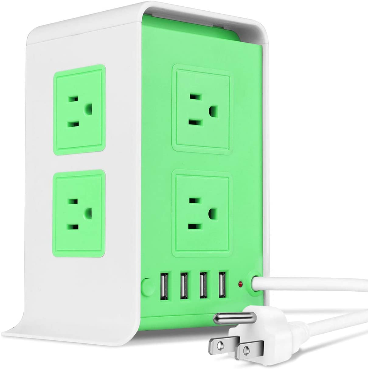 TNP Power Strip Tower Surge Protector with 8 Opening large release sale USB AC Soldering Ports Outl 4