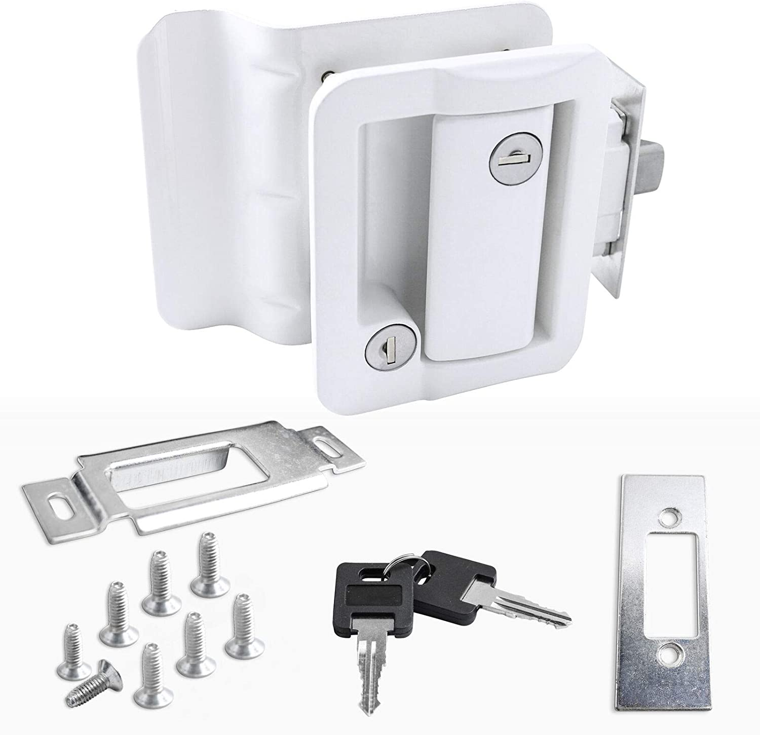 White RV Paddle 35% OFF 67% OFF of fixed price Entry Door Lock Deadbolt Latch C Handle New Knob