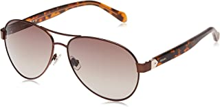 Fossil Women's 200927 Sunglasses, Color: Matt Brown, Size: 60