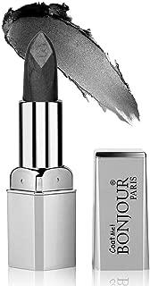 Bonjour Paris Coat Me Premium Metallic Shine Lipstick for Women, Metallic Finish (Metallic Ash Black) 4.2 gm