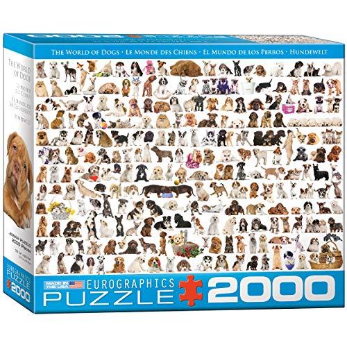 Eurographics The World of Dogs Puzzle - Rompecabezas (Puzzle rompecabezas, Animales, Niños y adultos, Perro, Niño/niña, Caja) , color/modelo surtido