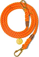 product image for Found My Animal Rescue Orange Rope Dog Leash, Adjustable Medium
