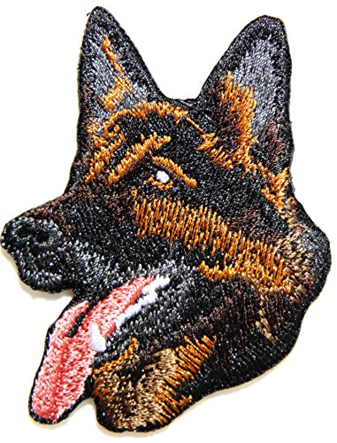 German Shepherd Alsatian Dog Pet Patch Sew Iron on Embroidered Sign Badge Costume Clothing