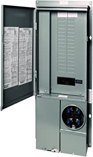 Square D by Schneider Electric SC3042M225PF Homeline 225-Amp 30-Space 42-Circuit Solar-Ready Combination Meter Socket and Main Breaker Load Center for Plug-On Neutral Breakers