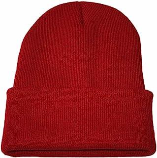 Quaanti Knitted Hat, Unisex Slouchy Knitting Beanie Hip Hop Cap Warm Winter Ski Hat (Wine)