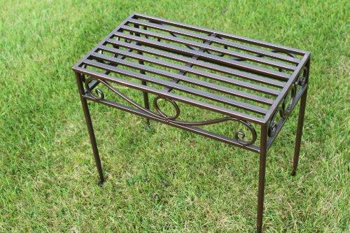 GardenMarketPlace Beistelltisch oder Untergestell aus Metall, im Versailles-Stil, in antiker Bronzeausführung (große Größe) - Ideal für Haus und Garten