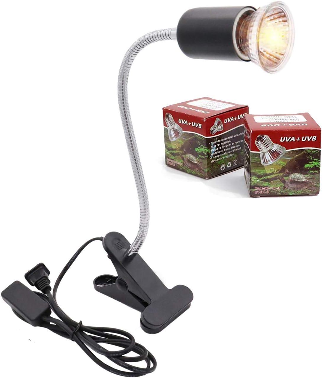 yanhe Tortoise Heat Lamp Basking Light for Aquarium Reptiles E27 UVA+UVB Heat Spotlight for Reptiles Aquarium Reptile Lizards Turtle Snakes 1W-75W black