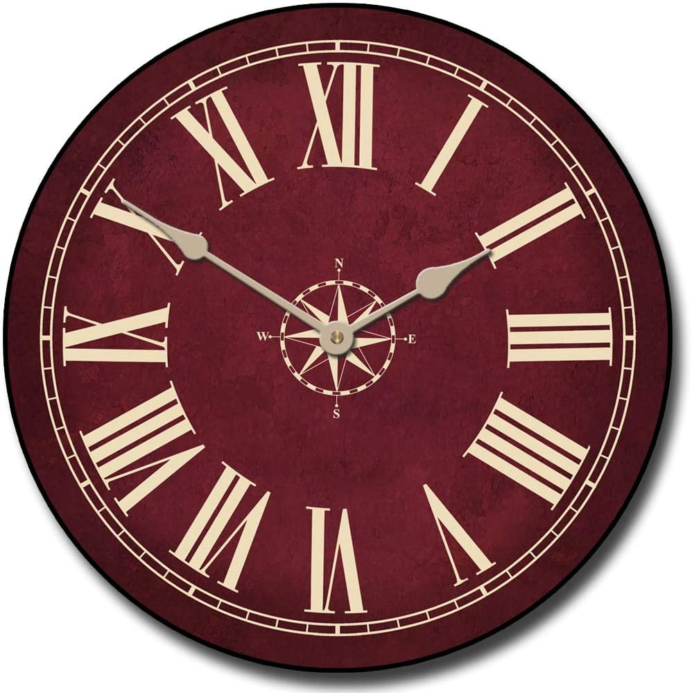 Nautical Burgandy Wall Clock Houston Mall San Diego Mall Available in Most 8 S Sizes