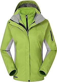 Nanp Giacca impermeabile da donna leggera e sottile a vento impermeabile con cappuccio Active Quick Dry Outwear Escursionismo campeggio