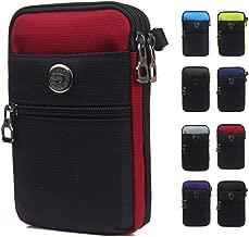 Just Mode(TM) Multifunctional Waterproof Sporty Casual Style Men's Pocket Cellphone Case Waist Bag Wallet Purse Mini Shoulder Bag-Red