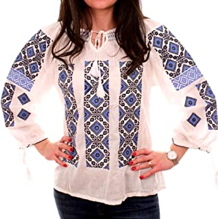Romanian Embroidered Shirt Traditional Blouse Ie National Costume (S-3XL)