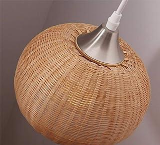 Bamboo Display Handmade, Personality Bamboo Chandelier Handmade DIY Retro Pastoral Woven Rattan Ceiling Pendant Lamp Resta...