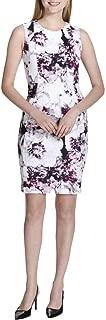 Calvin Klein Womens Print Sheath Dress w/Seams