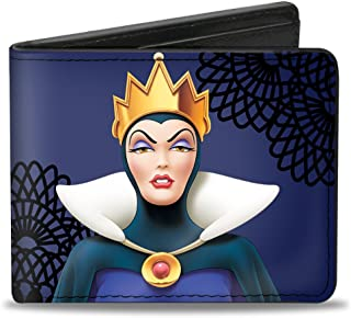 Buckle-Down Men's Snow White's Evil Queen + Old Witch Poses Purples/Black, Multicolor, Standard Size