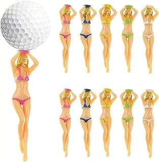 Colored Bikini Woman Golf Tees Plastic Tee Plastic Lady Golf tee Divot Tool -10/Pack
