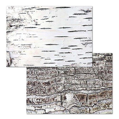 corpus delicti :: Design-Tischsets aus Papier – Platzsets als Abreißblock in Holzoptik/Birke – Taiga