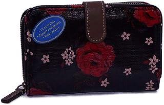 キャスキッドソン Cath Kidston ミニ財布 FOLDED ZIP WALLET レディース BLACK Little Jacquard Rose 786706 [並行輸入品]