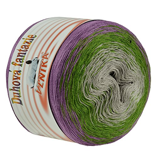 maDDma ® 200g Bobbel Wolle 4-fädig Farbverlaufsgarn Fantazie Häkelgarn Strickgarn, Farbwahl, Farbe:Mountain Meadow