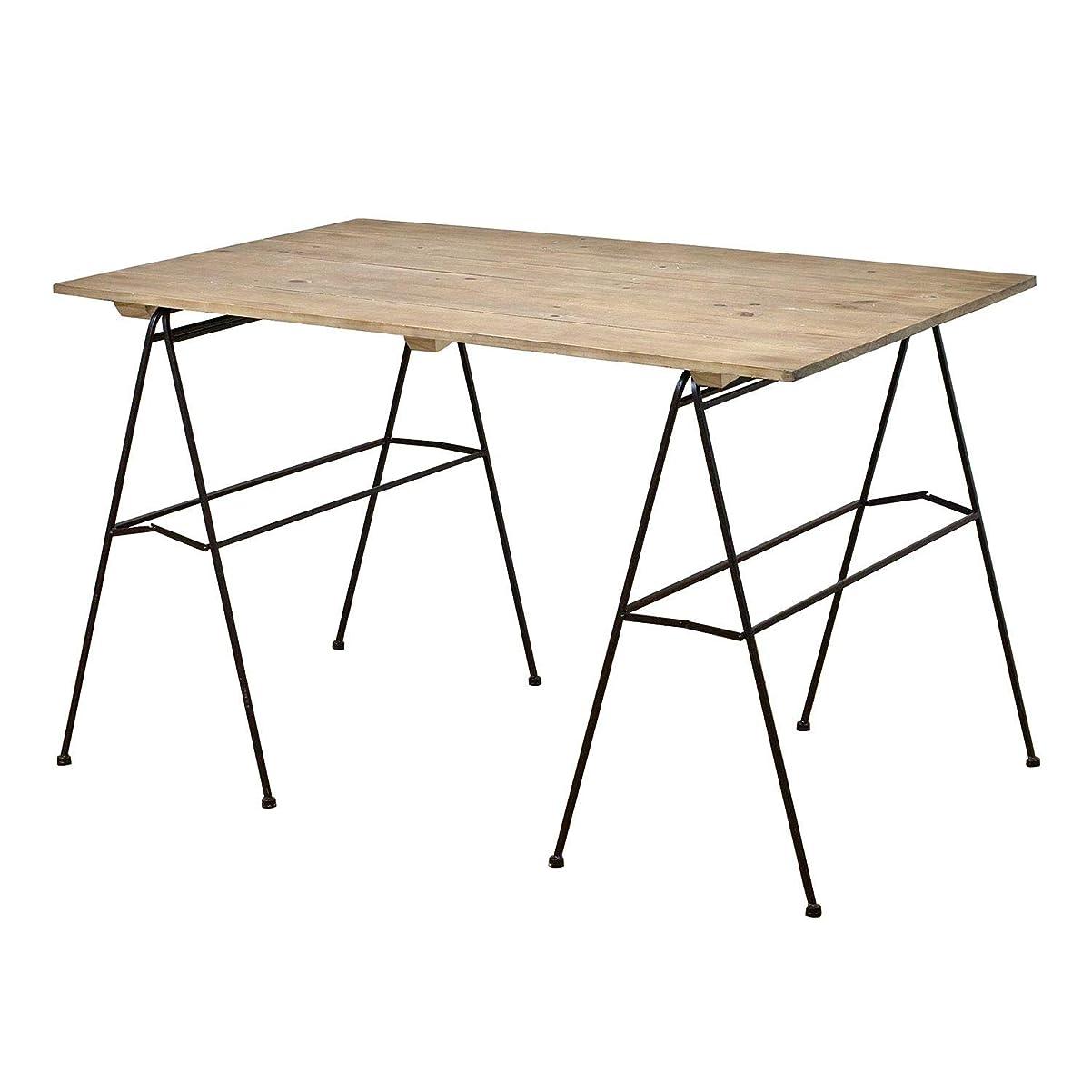 盟主に対処するフェードSPICE OF LIFE 展示用 ディスプレイテーブル ジョセフアイアン ダークブラウン 120×74×80.5cm 木 折りたたみ DTFF9100