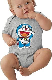 Newborn Clothes Cute Doraemon Boys Girls Baby Onesies Cotton Short-Sleeve