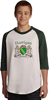 Harrigan Irish Coat of Arms Jersey Tee 3/4 sleeve