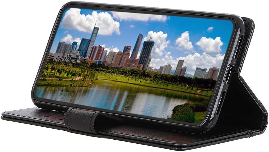 ROVLAK Etui pour LG K50S Housse de Protection Anti-Choc avec Cr/édit Carte Fente Etui en Cuir PU+Int/érieur en Silicone TPU Case Wallet Coque pour LG K50S Smartphone,Noir