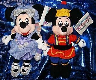 "Disney's Mickey and Minnie Mouse Nutcracker 7"" Plush Bean Bag Set"