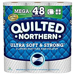 Quilted Northern Ultra Soft and Strong Toilet Paper, Mega Rolls, 12 Count of 328 2-Ply Sheets Per Ro