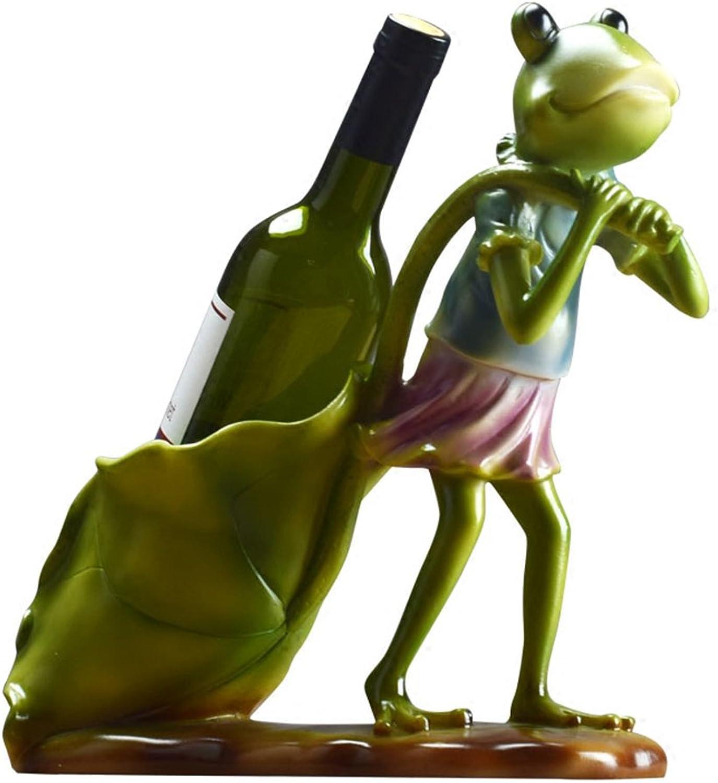 entrega de rayos Soportes para tazas tazas tazas Estante de Vino de la Sala de Estar Animal de la Resina de la Rana verde  el estilo clásico