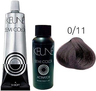 Kit Keune Semi Color 60ml - Mix 0/11 - Azul Cinza + Ativador 60ml Keune