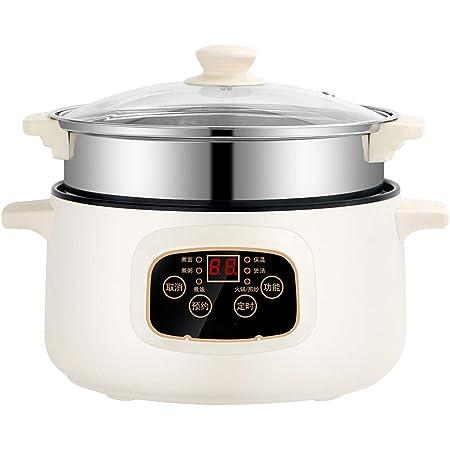 """Shabu Shabu Hot Pot, friteuse électrique multifonction de qualité supérieure, antiadhésive, poêle à frire, cuisinière électrique 6 en 1, super cuiseur pour la maison, le dîner, 10,2"""""""