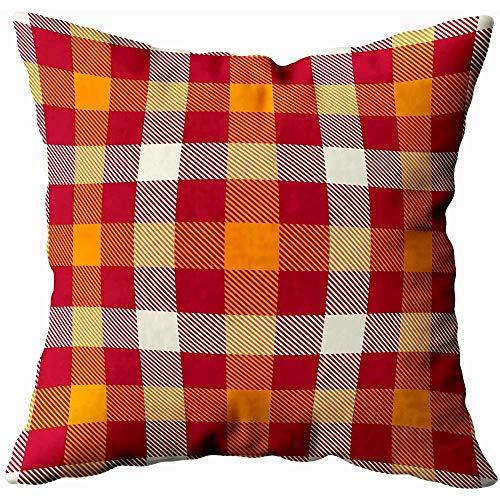 July kussenslopen tartan achtergrond rood oranje wit kleur plaid flanel shirt patroon trendy tegels