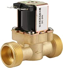 2 Lat/ón N//C V/álvula solenoide el/éctrica normalmente cerrada V/álvula reguladora de presi/ón de 2 v/ías Akozon V/álvula solenoide 12V BSPP G1