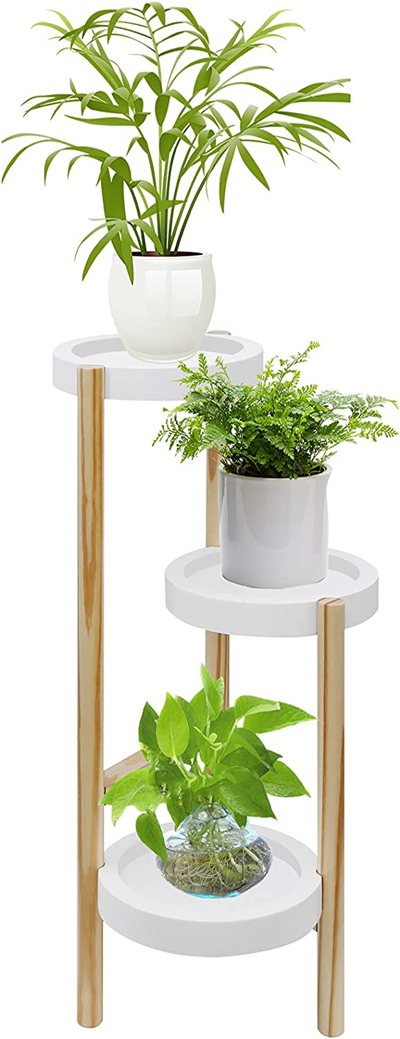 Welland Industry No. 1 Pine 3 Tier Corner Holders Indoor Stand New product type Plant Tall