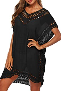 Womens Swimsuits Cover Ups Crochet Chiffon Beach Cover...