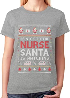 Tstars - Nurse Ugly Christmas Sweater Funny Nurses Xmas Gift Women T-Shirt