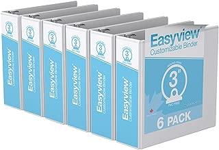 Easyview Premium Round Ring, Customizable, View Binder (3