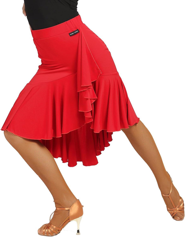 G2022 Latin Ballroom Dance Professional Lotus Leaf Style Irregular Swing Design Skirt