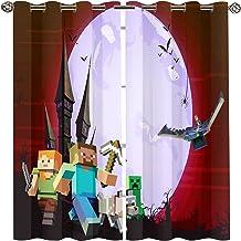 Mine Halloween Craft gordijn, Cartoon Castle Animation Game Kinderen Vleermuis Hond Kinderen Raamgordijnen Verduistering G...