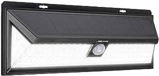 Mr Beams Solar Wedge Plus 102 LED Security Outdoor Motion Sensor Wall Light, 1 Pack, Black