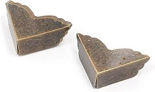 "Karcy Box Corner Protectors Decorative Corner Guards with Mounting Screws 2-3/4"" Corner Bracket Iron Bronze Tone for Photo..."