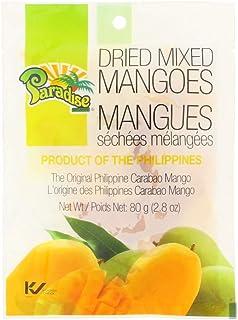 Paradise Dried Mixed Mangoes, The Original Philippine Carabao Mango, 80g