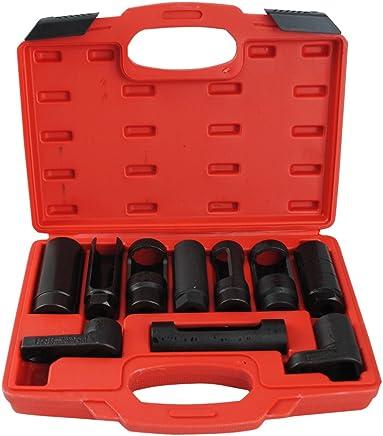 10 tlg Lambdasonde Nüsse Set Lambdasonden Steck Schlüssel Stecknüsse Werkzeug