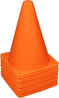 """Best REEHUT 7.5"""" Plastic Traffic Cones - 12 Pack Thick Soccer Training Cones for Outdoor Activity & Festive Events (Set of 12 or 24)- 4 Colors Review"""