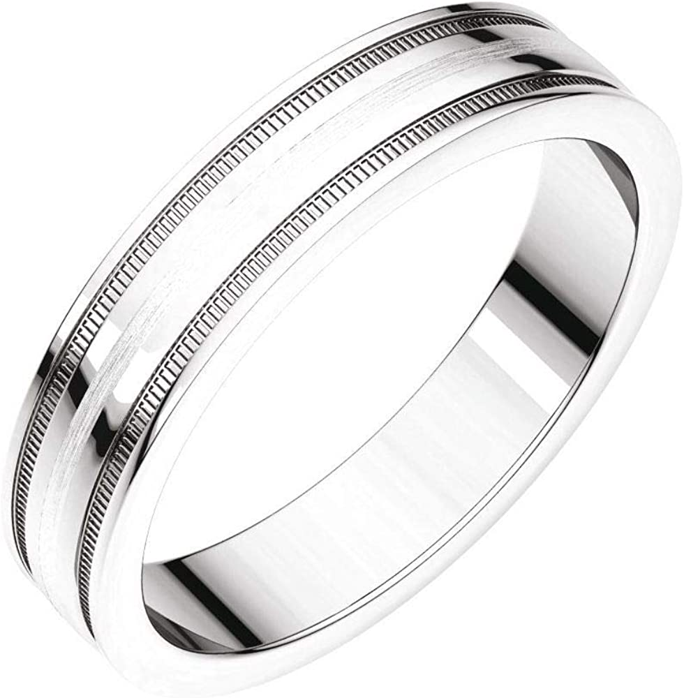 Solid 10k White High Direct sale of manufacturer material Gold 4mm Flat Edge Wedding Band Fit Comfort Ring