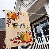 Tamengi Happy Thanksgiving Pumpkin Fall Golden Maple Leaf Manzana Garden Flag, Banderas de casa, impresión de doble cara, jardín jardín jardín jardín jardín jardín decoración exterior