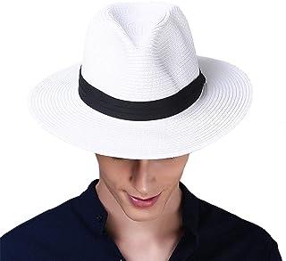 Taylor-mia(テイラーミア) 麦わら帽子 ハット メンズ 夏用 中折れハット 大きいサイズ パナマハット パナマ帽
